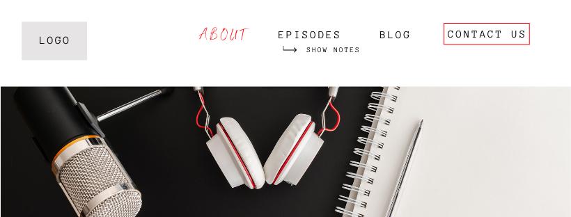 Example of Podcast SEO Website Menu